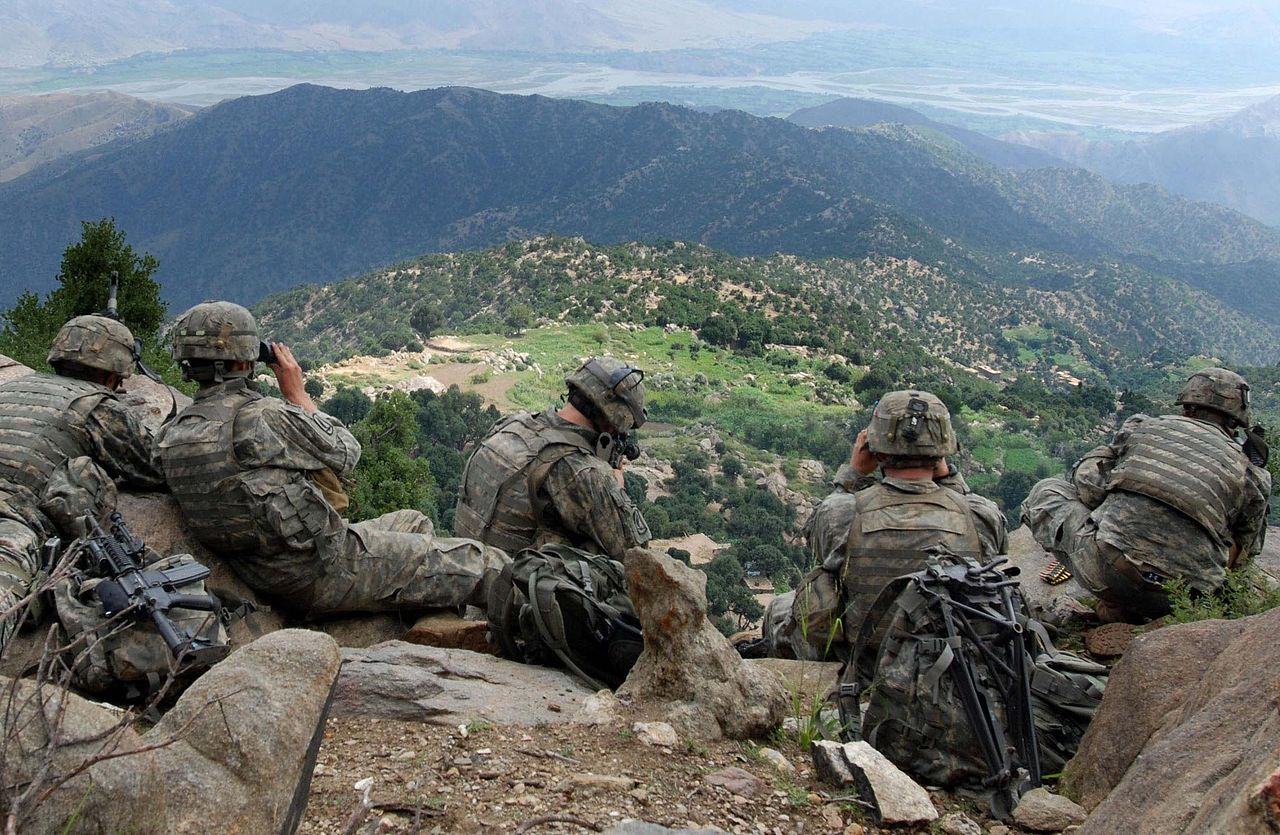 U.S. Army troops wearing UCP-based Army Combat Uniforms (ACUs), Kunar Province, Afghanistan
