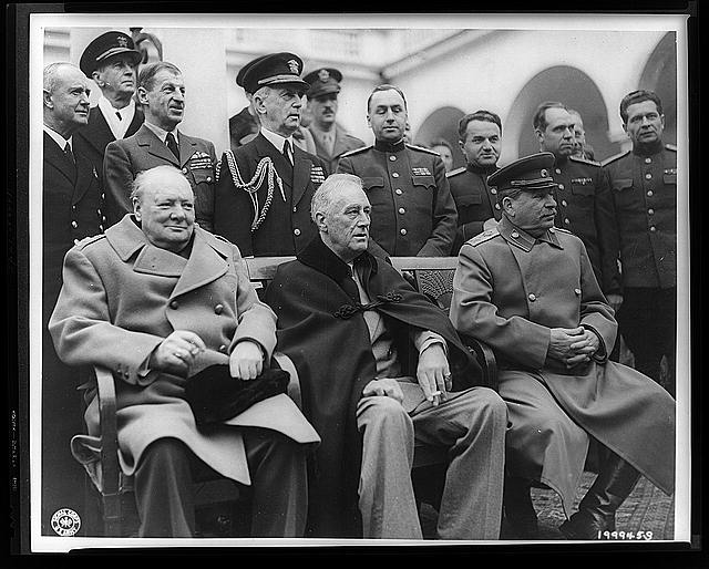FDR like the boat cloak more than Uncle Joe or the British Bulldog