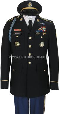 US Army Enlisted Army Standard Uniform builder. <br/>This page displays the items that can be worn on the new Army ASU.