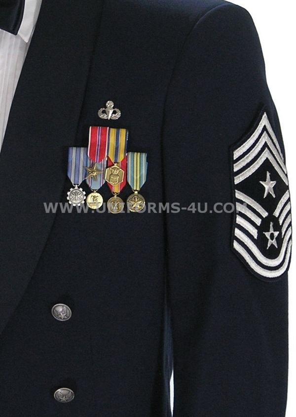 Dress blues alphas medal placement