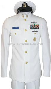 Fully customizable summer dress white uniform for Chief Petty Officers (E7-E10)