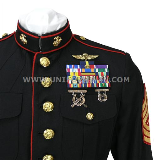 Navy dress blues medals placement
