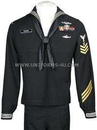 US Navy Enlisted Dress Blue Uniform (also known as the Crackerjack ...