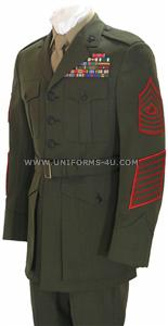 <p> 	USMC Enlisted Service Dress Uniform</p>