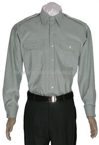 The Army green long sleeve shirt can be worn with the class B or beneath the green class A jacket.