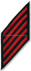 COAST GUARD ENLISTED HASHMARKS RED ON BLUE SERGE SET OF 5