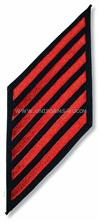 COAST GUARD ENLISTED HASHMARKS RED ON BLUE SERGE SET OF 6