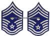 usaf chevron metal chief master sergeant with diamond