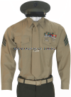 usmc enlisted service bravo uniform