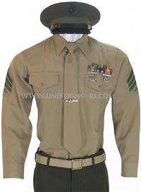 usmc enlisted service bravo uniform
