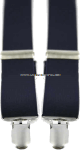 air force blue suspenders with clip