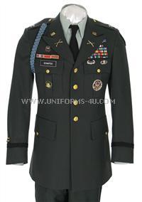 us army officer class a green uniform