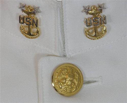 us navy cpo summer dress white uniform (sdw)