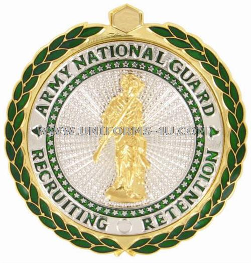 Army senior national guard recruiting and retention badge