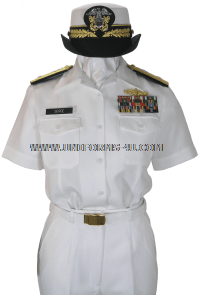 us navy female summer white uniform