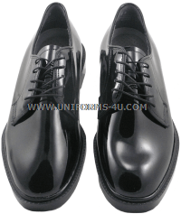 u.s. military poromeric corfam gloss dress oxford shoes