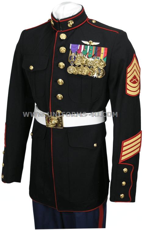 Marines Enlisted Uniform USMC ENLISTED DRESS BL...