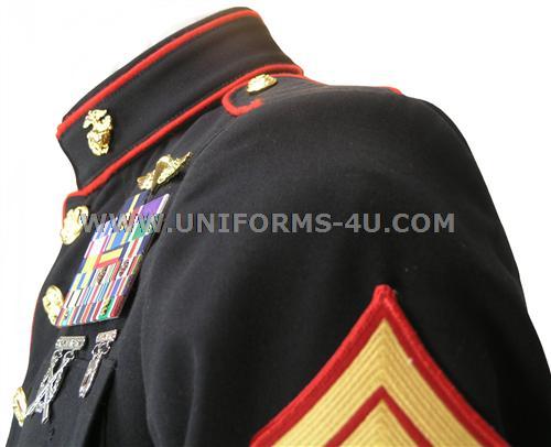Usmc dress blue uniform ribbon placement