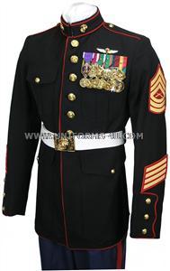 usmc enlisted dress blue uniform