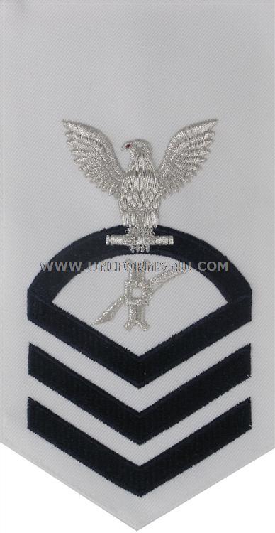 us navy e7 legalman  ln  white rating badge