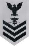 us navy e6 dental technician (dt) white rating badge