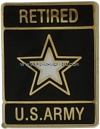 retired u.s. army star logo lapel pin