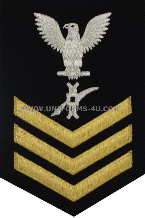 us navy e6 legalman  ln  dress blue good conduct rating badge