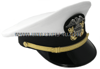 US NAVY OFFICER WHITE DRESS HAT