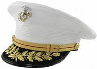USMC GENERAL WHITE DRESS HAT