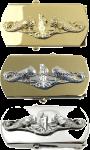US Navy Submarine Officer Belt Buckle