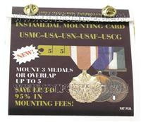instamedal mounting card kit for usmc usa usn usaf uscg