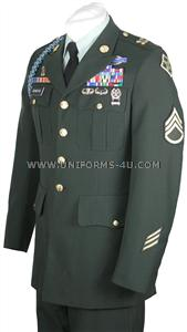 US Army Class A Enlisted Green Uniform