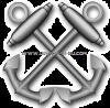 us navy e6 boatswain's mate (BM)  dress blue rating badge