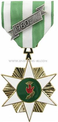 vietnam campaign military  anodized medal with 1960 date bar