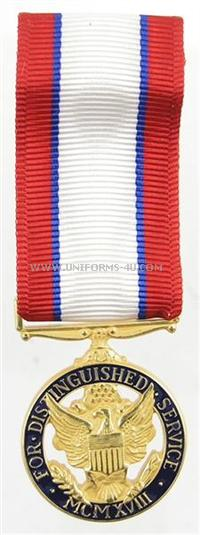 army distinguished service mini medal