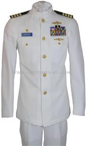 us navy officer service dress white uniform