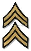 us army chevron large (male ) gold embroidered on blue corporal