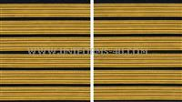 us army male service stripe gold embroidered on blue set of 6  stripes