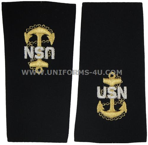 Us Navy Soft Shoulder Board Chief E7