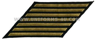 us navy enlisted hashmarks male gold embroidered set of 7