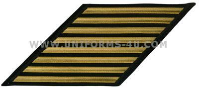 us navy enlisted hashmarks male gold lace on blue set of 8