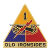 army 1st armored division unit crest
