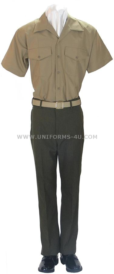 USMC KHAKI SHIRT FOR SERVICE C - CHARLIE UNIFORM