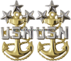 us navy mcpon collar device - pin back